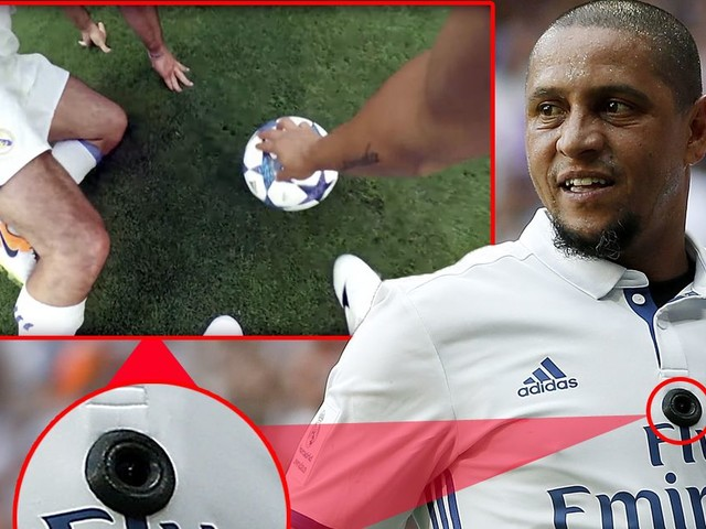 Roberto Carlos wears camera during Legends game letting viewers become Real Madrid player