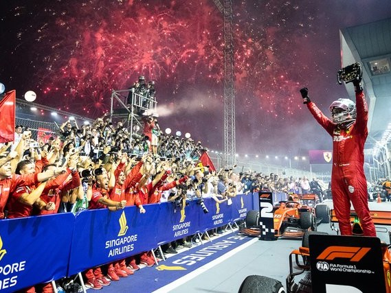 Singapore GP: Sebastian Vettel wins but tension within Ferrari grows