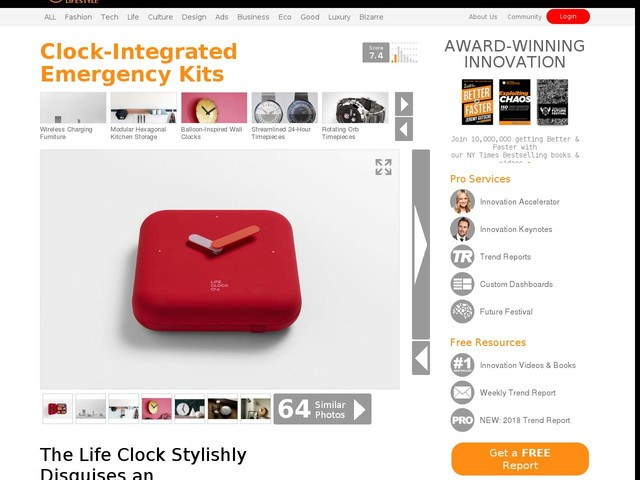 Clock-Integrated Emergency Kits - The Life Clock Stylishly Disguises an Emergency Aid Kit (TrendHunter.com)