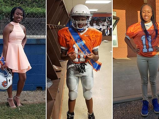 13-year-old becomes her school's first female football player