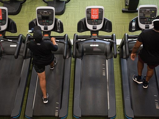 Fitness fans hit the gyms and pools as doors reopen for first time in four months today
