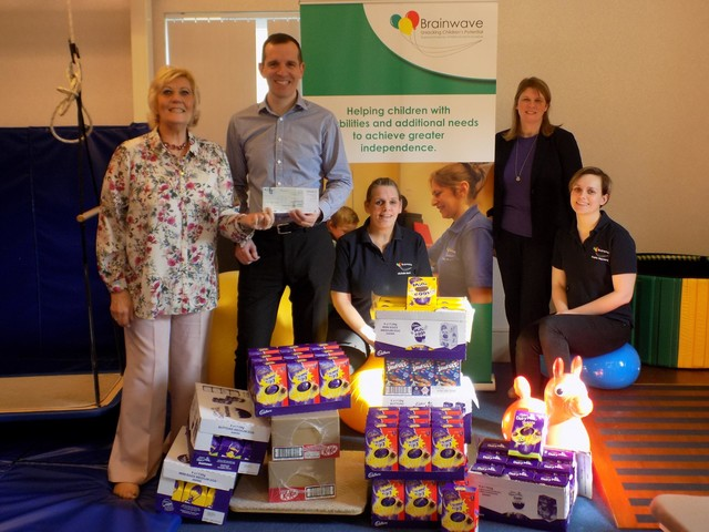 Business donates Easter eggs to children's charity
