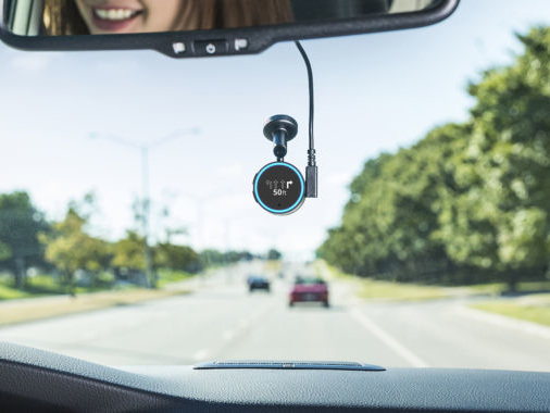 Garmin Speak is a tiny Echo Dot for your car, made by Garmin and Amazon