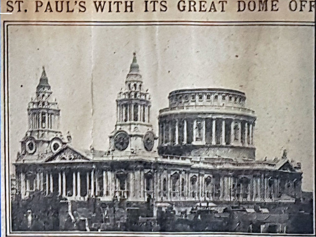 The year St Paul's Cathedral nearly lost its dome