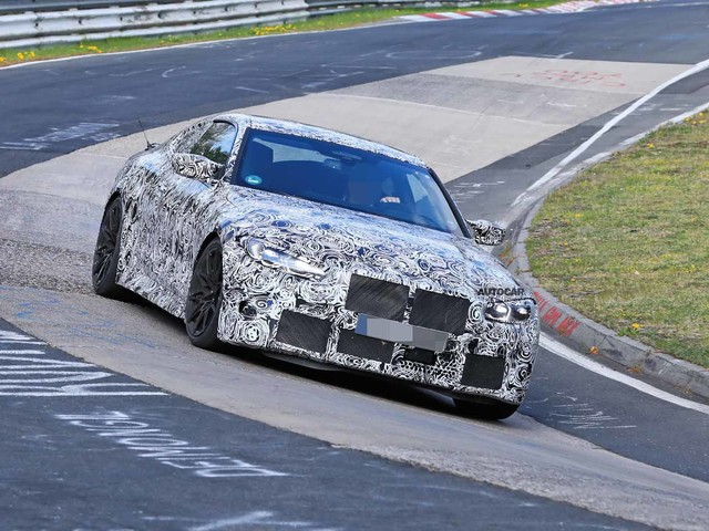 New BMW M4: 500bhp coupe takes to the track in new shots