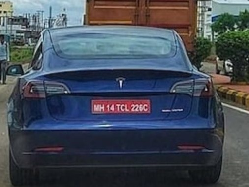 Tesla Model 3 Spied Testing In India For The First Time!