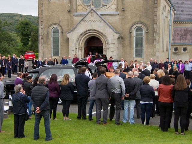 Heartbroken mourners say last goodbye to tragic mum and daughter, Margaret McGonagle and Mairead Mundy, killed in horror Co Louth car crash