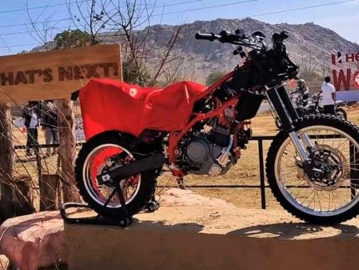 Hero Motocorp Showcases 300-500cc Adventure Motorcycle Prototype