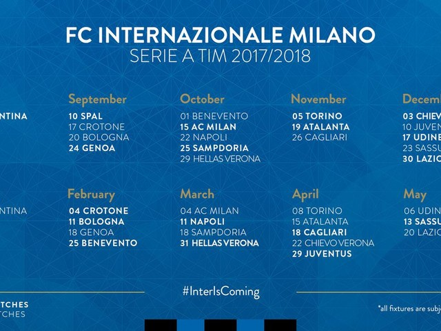 A closer look at Inter's Serie A calendar