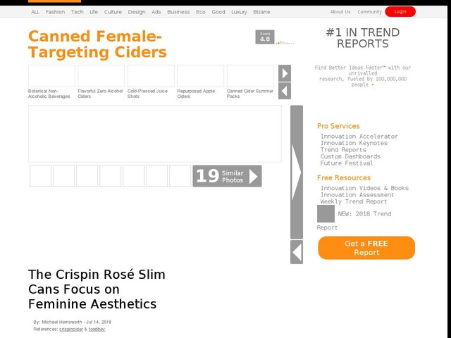 Canned Female-Targeting Ciders - The Crispin Rosé Slim Cans Focus on Feminine Aesthetics (TrendHunter.com)