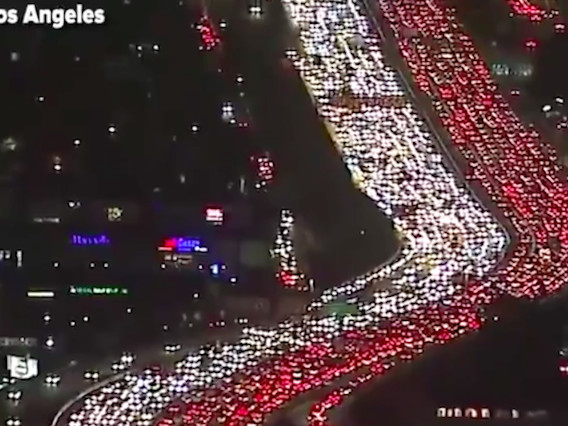 "Video: Witness the Thanksgiving ""bumper-to-bumper"" traffic nightmare"