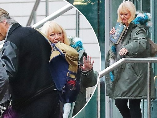 Judy Finnigan shows off her slimmer figure in Manchester