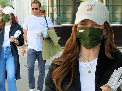 Sophia Bush cuts a stylish figure as she heads to an airport with her boyfriend Grant Hughes