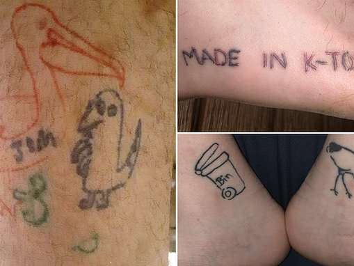 Winner announced for 'sh*****t' tattoo is a pelican named Tom taking a poo