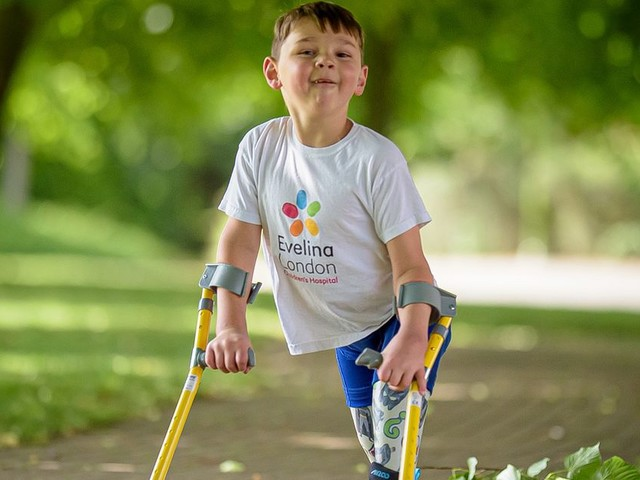 Boy, 5, who lost legs as baby raises almost £750k for hospital that saved him
