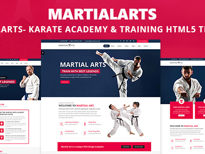 MartialArts- Responsive Template for Karate Academy & Martial Arts Training (Health & Beauty)