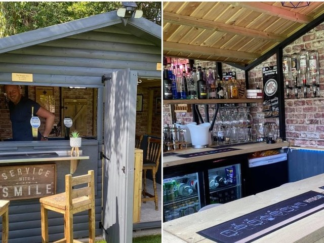 Couple converted their garden shed into a pub in brilliant transformation