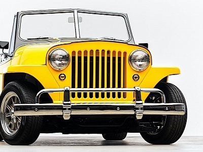 1949 Willys Jeepster Has Ford V8 Engine Swap and Stunning Ferrari-Like Paint
