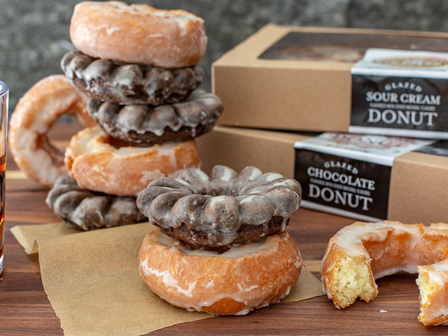 Cakey Sour Cream Donuts - Trader Joe's Glazed Sour Cream Donuts are Old-Fashioned Style (TrendHunter.com)