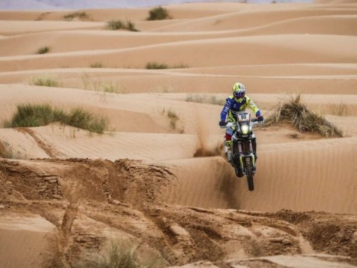 Team Sherco TVS Rally Factory Kicks Off Merzouga Rally Campaign With Strong Performance