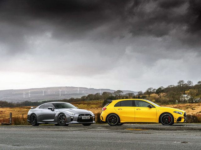 AMG 45 S vs Nissan GT-R: New hot hatch vs used supercar
