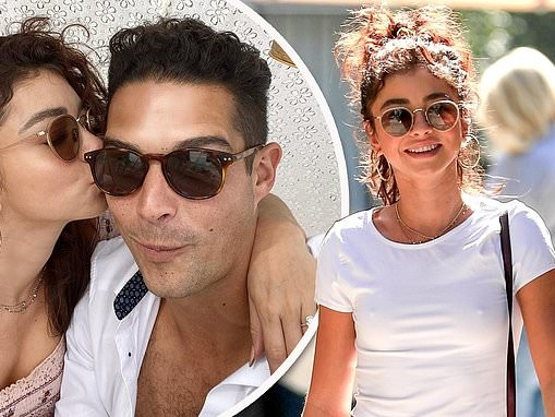 Sarah Hyland looks classic while out after Bachelor-style anniversary date with fiance Wells Adams