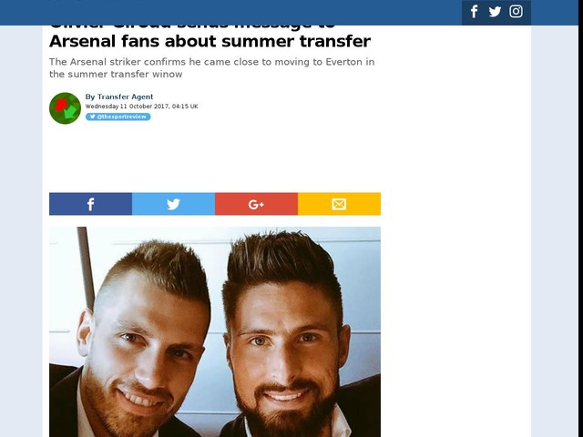 Olivier Giroud sends message to Arsenal fans about summer transfer