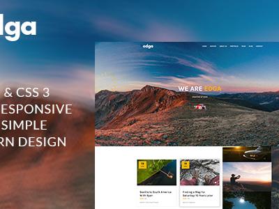 Edga - One Page Creative HTML Template (Creative)