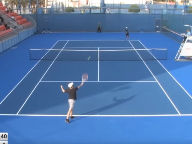 Nothing will prepare you for how bad this 'professional' tennis player is