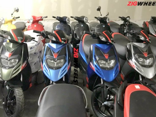 Aprilia SR150 scooter spied in 4 new colours – Launch Soon