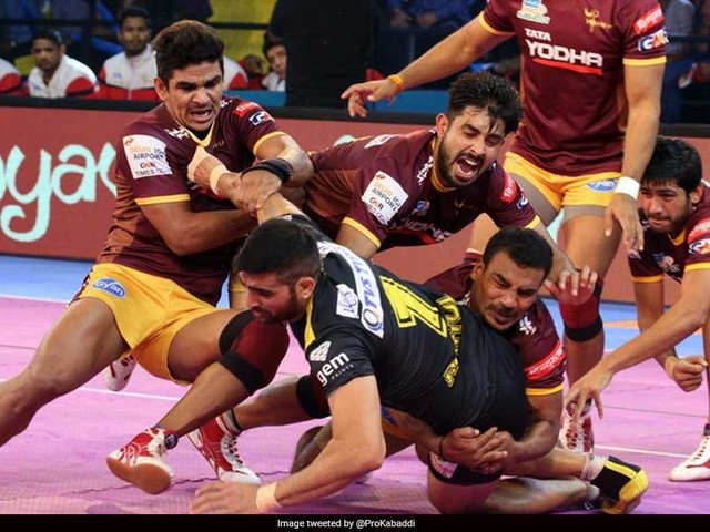 Pro Kabaddi League 2017: UP Yoddhas Beat Telugu Titans 39-32