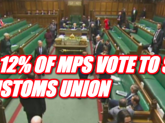 Just 12% of MPs Vote to Stay In Customs Union