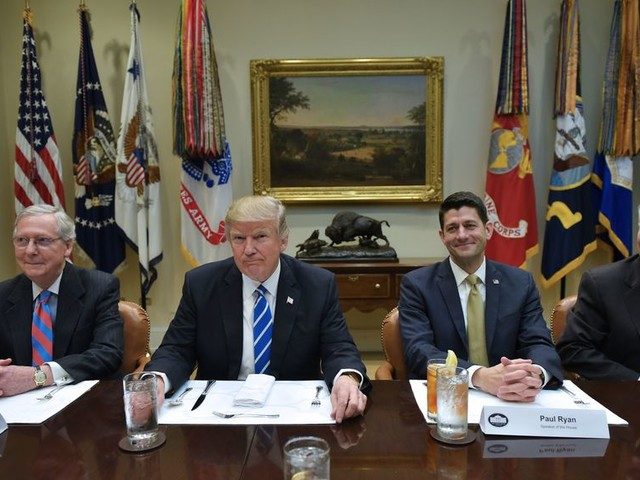 The Trump honeymoon with Congress is definitely over