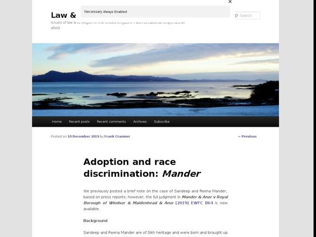 Adoption and race discrimination: Mander