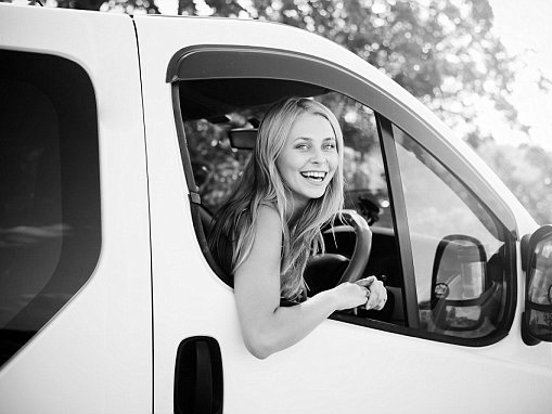 A third of white vans are now owned by women