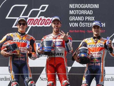 Dovizioso pips Marquez in stunning Austrian GP