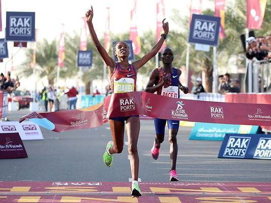 Ethiopian breaks women's half marathon world record in United Arab Emirates