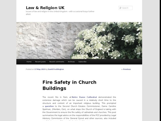 Fire Safety in Church Buildings