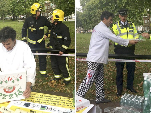 Italian restaurant hands 200 free pizzas to emergency workers in Parsons Green