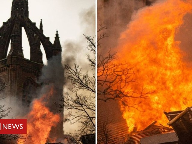 Fire crews tackle blaze at historic army centre in Paisley