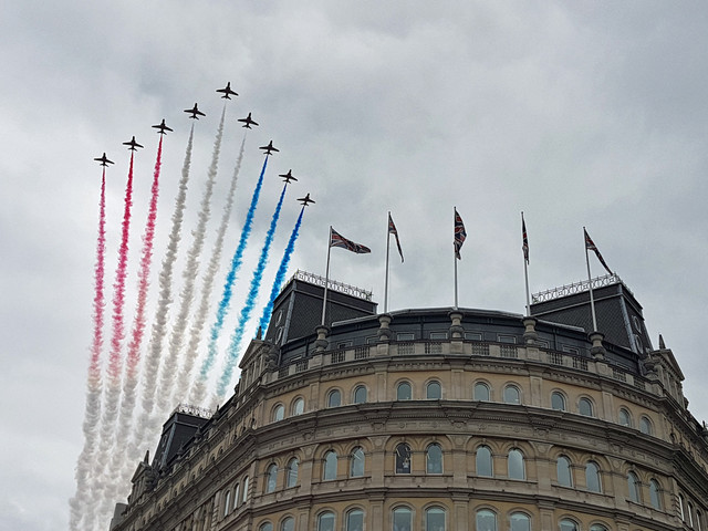 How to request your very own Red Arrows flypast