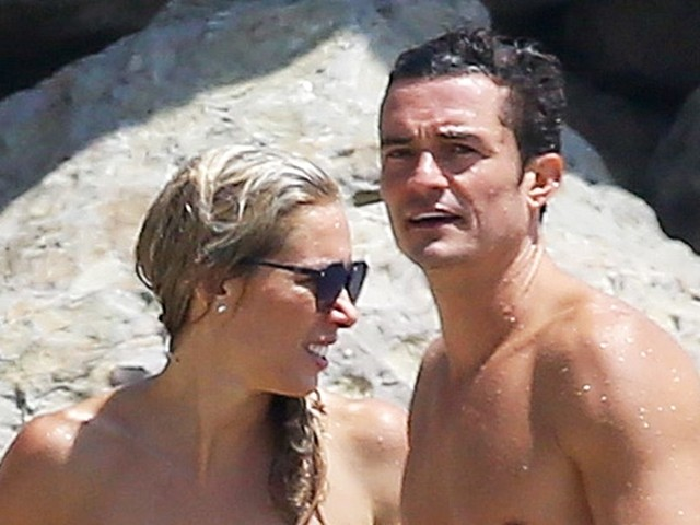 Orlando Bloom Hits the Beach With Mystery Blonde After Reuniting With Ex Katy Perry