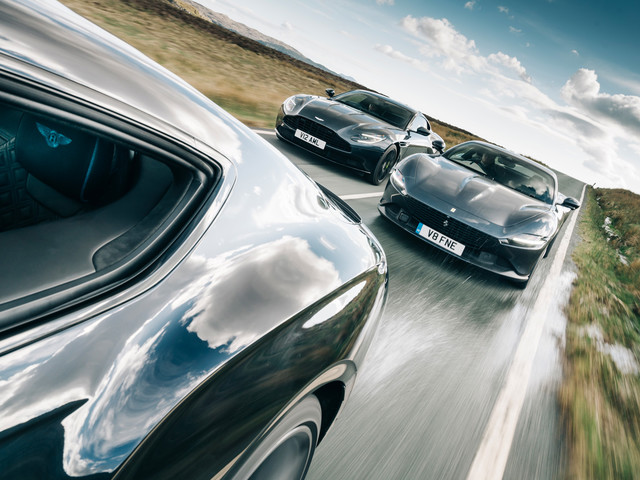 Cruise missiles: Ferrari Roma meets Bentley and Aston rivals