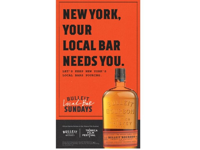 Local Bar-Supporting Ads - Bulleit Debuts the New 'Local Bar Sundays' Hospitality Mission (TrendHunter.com)