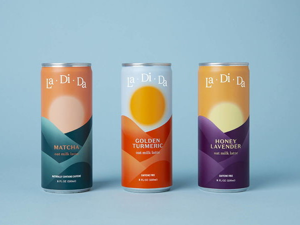 Hemp-Enhanced Oat Lattes - LaDiDa's Canned Drinks are Inspired by Sunrise, Midday & Sunset (TrendHunter.com)