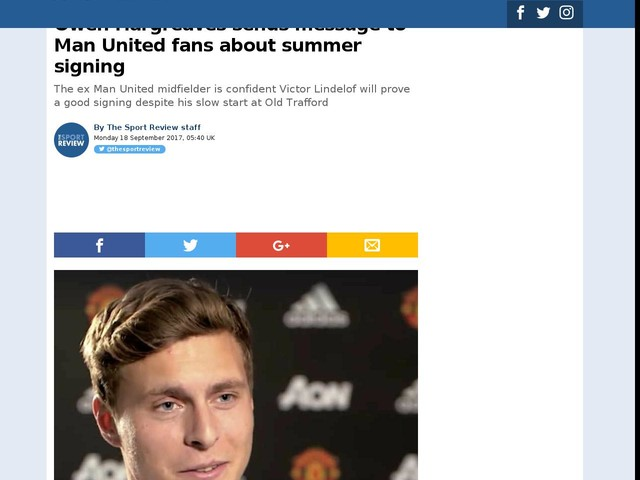 Owen Hargreaves sends message to Man United fans about summer signing