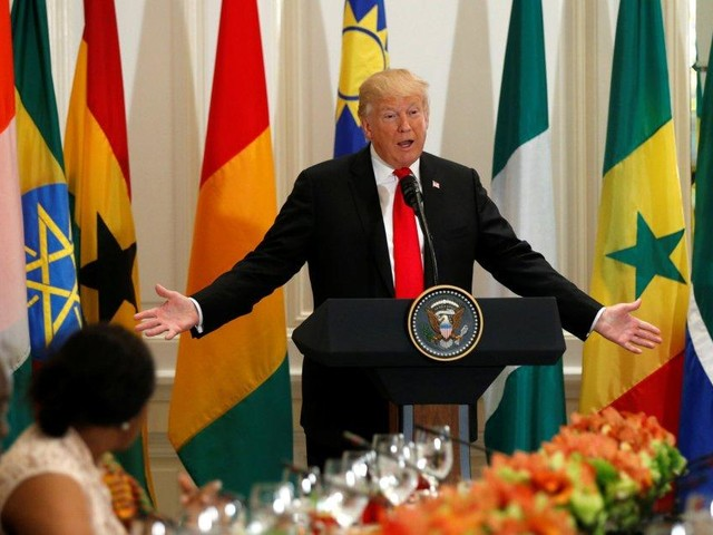 Trump mispronounces Namibia in luncheon with African leaders