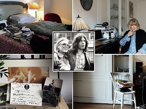 Inside Marianne Faithfull's chic Paris apartment