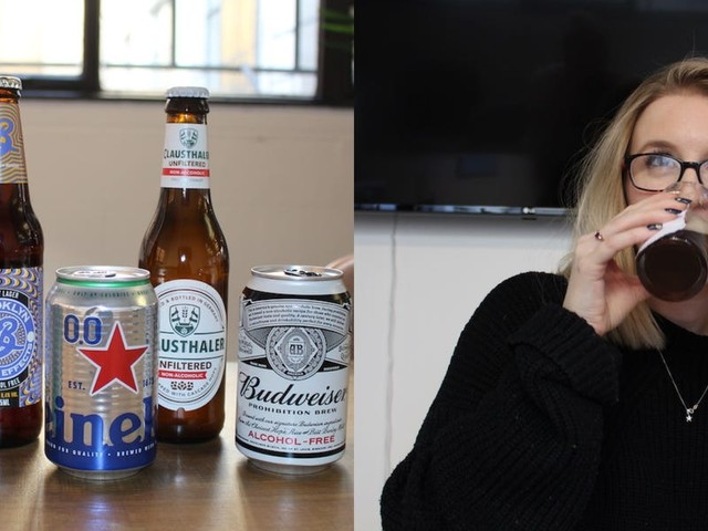 I taste-tested 5 brands of non-alcoholic beer, and there was one I'd happily order at a bar