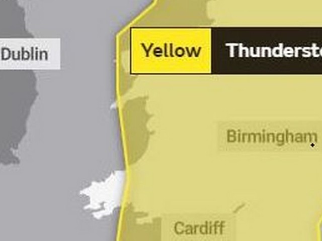 Met Office warns of thunderstorms across most of Wales on Tuesday night
